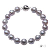 Nice Quality 9.5-10mm Gray Baroque Pearl Bracelet HC173