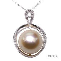 Simple 14mm Golden South Sea Pearl Pendant in 14k Gold SPP266