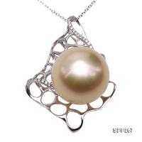 Luxurious 15mm Golden South Sea Pearl Pendant in 14k Gold SPP267