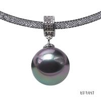 Classical Huge 16mm Gray Sea Shell Pearl Pendant SPT017