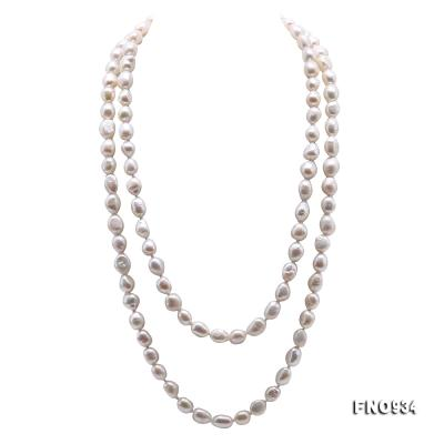 Classical 8-9mm White Baroque Pearl Long Necklace FNO934 Image 1