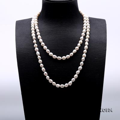 Classical 8-9mm White Baroque Pearl Long Necklace FNO934 Image 2