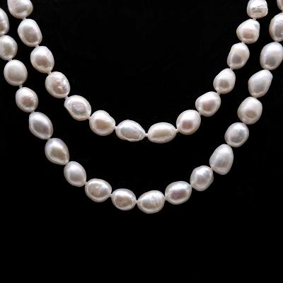 Classical 8-9mm White Baroque Pearl Long Necklace FNO934 Image 3