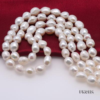 Classical 8-9mm White Baroque Pearl Long Necklace FNO934 Image 6