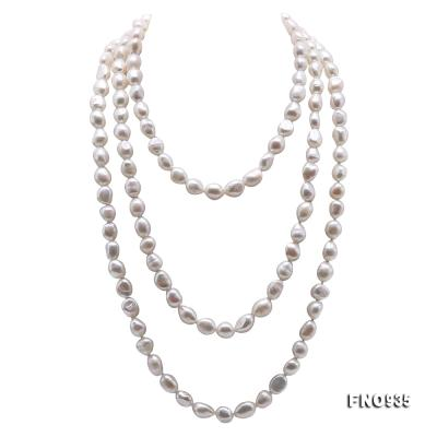Classical 8-9mm White Baroque Pearl Long Necklace FNO935 Image 1