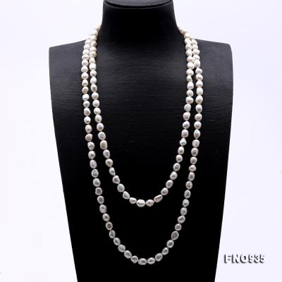 Classical 8-9mm White Baroque Pearl Long Necklace FNO935 Image 2