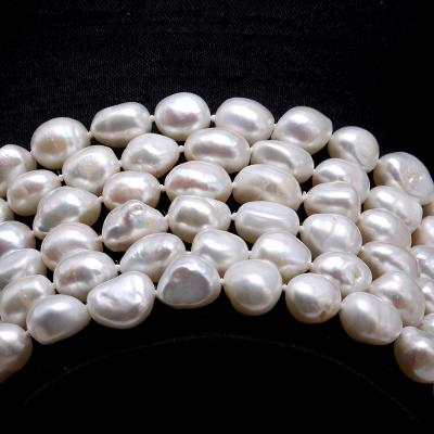 Classical 8-9mm White Baroque Pearl Long Necklace FNO935 Image 4