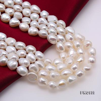 Classical 8-9mm White Baroque Pearl Long Necklace FNO935 Image 6