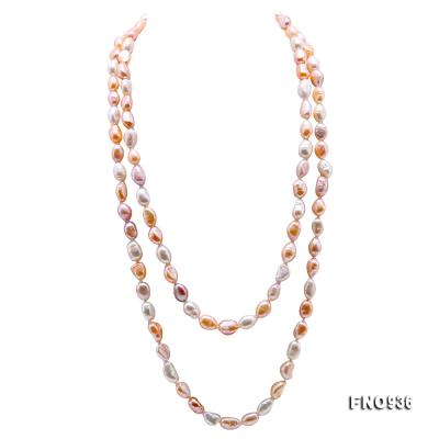 Classical 7-8mm Multi-color Baroque Pearl Long Necklace FNO936 Image 1