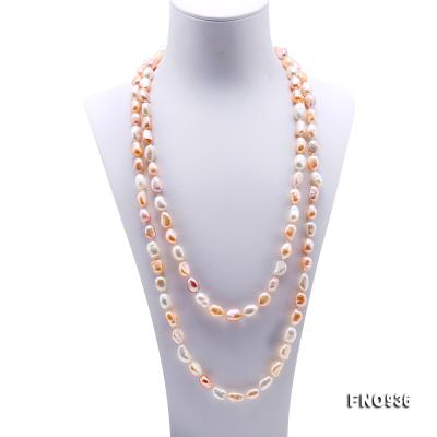 Classical 7-8mm Multi-color Baroque Pearl Long Necklace FNO936 Image 2