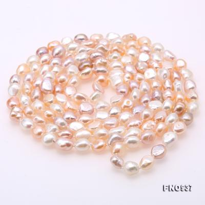 Classical 8-9mm MultiColor Baroque Pearl Long Necklace FNO937 Image 5