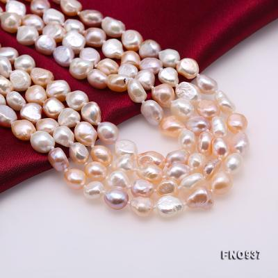 Classical 8-9mm MultiColor Baroque Pearl Long Necklace FNO937 Image 8