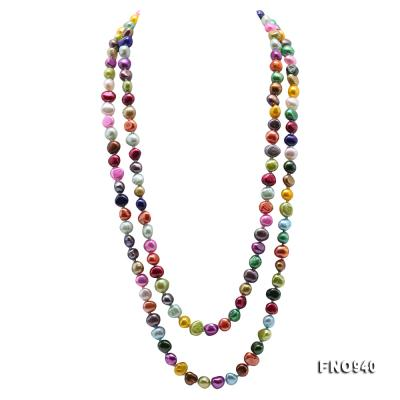 Classical 8-9mm Multi-Color Baroque Pearl Long Necklace FNO940 Image 1