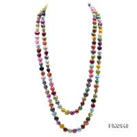 Classical 8-9mm Multi-Color Baroque Pearl Long Necklace FNO940