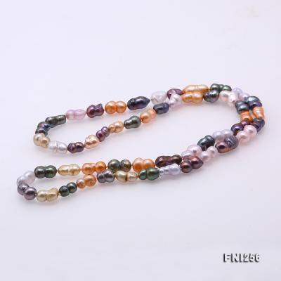 Classical 10x14mm Multi-Color Baroque Pearl Long Necklace FNI256 Image 7
