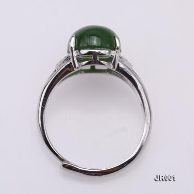 Charming 10x14mm Green Jasper Ring in 925 Silver JR001 Image 3