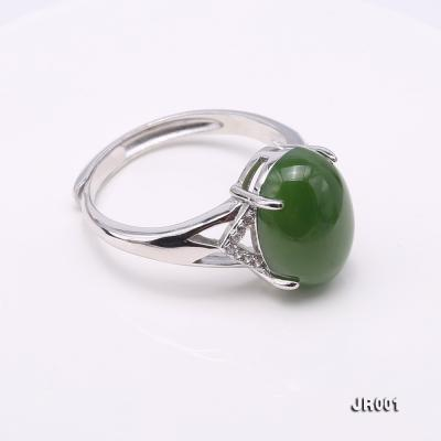 Charming 10x14mm Green Jasper Ring in 925 Silver JR001 Image 4
