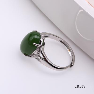 Charming 10x14mm Green Jasper Ring in 925 Silver JR001 Image 5