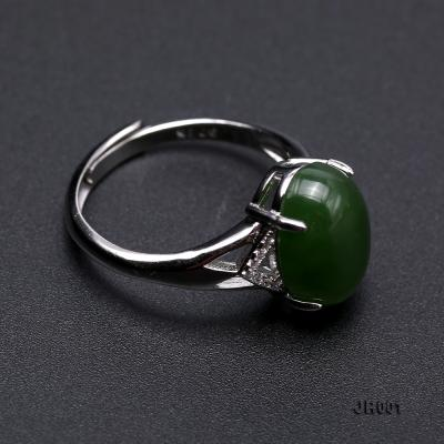 Charming 10x14mm Green Jasper Ring in 925 Silver JR001 Image 6