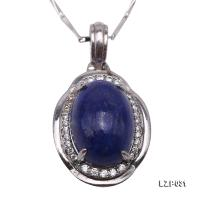 Graceful 10x14mm Lapis Lazuli Pendant in Sterling Silver LZP031