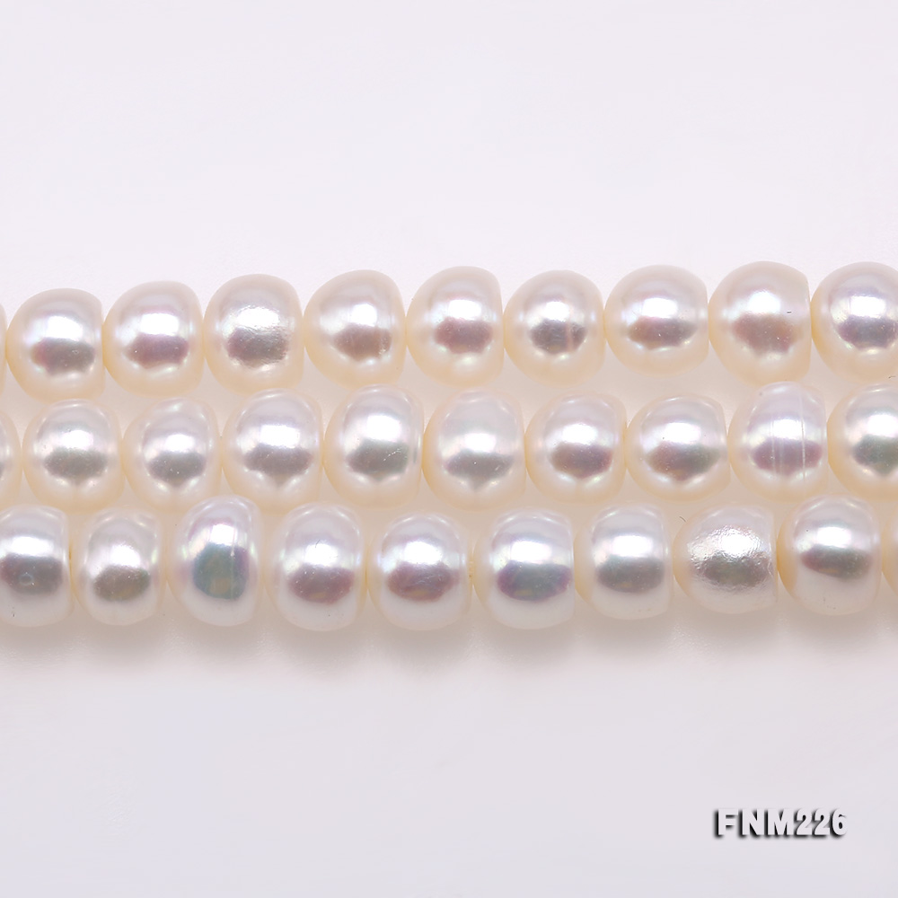Classical 6-7mm White Pearl Three-Strand Necklace big Image 3
