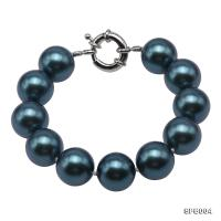 Classical 16mm Dark Blue Round South Seashell Pearl Bracelet  SPB004