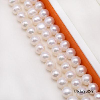 Classical 6.5-7.5mm White Pearl Three-Strand Necklace FNM162-1 Image 6
